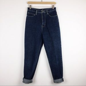 Vintage high waisted mom jeans super dark wash